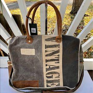 Handbags - Myra Vintage Messenger Shoulder Bag Canvas NWT